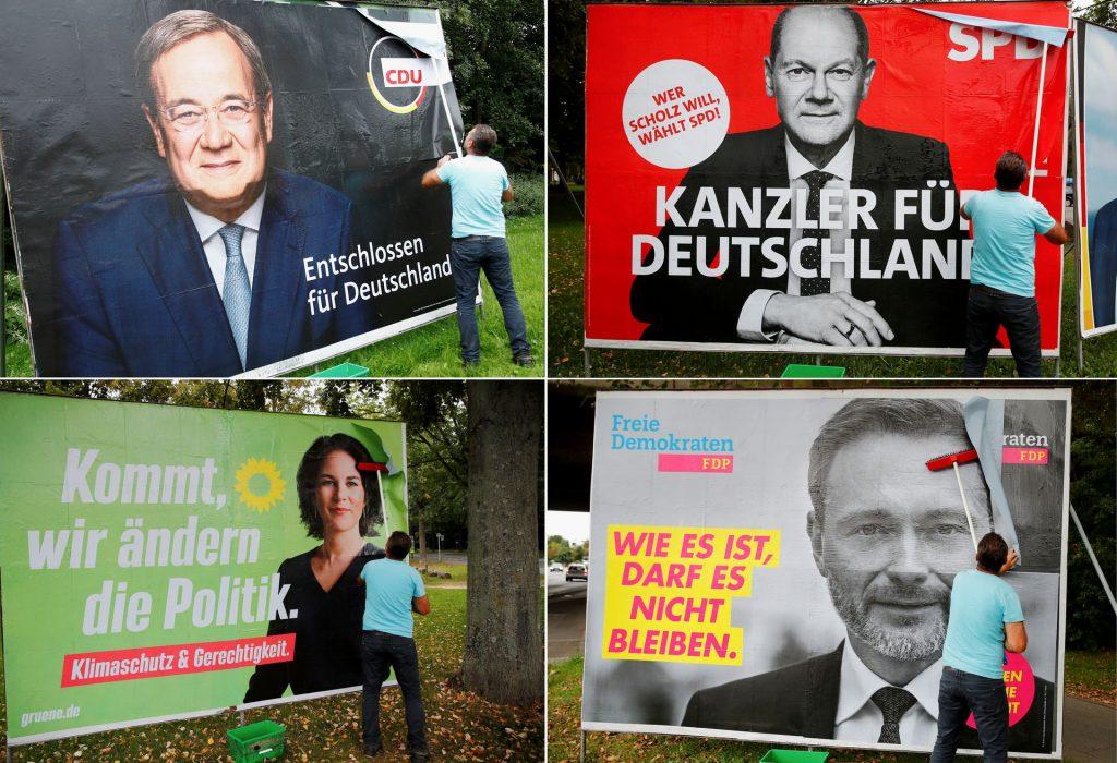 Немцы голосуют на выборах