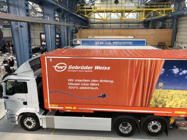Электрические грузовики MAN выходят на дороги Австрии