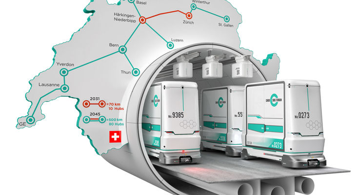 Cargo sous terrain (CST): Швейцария перенаправит 40% грузоперевозок в подземные тоннели