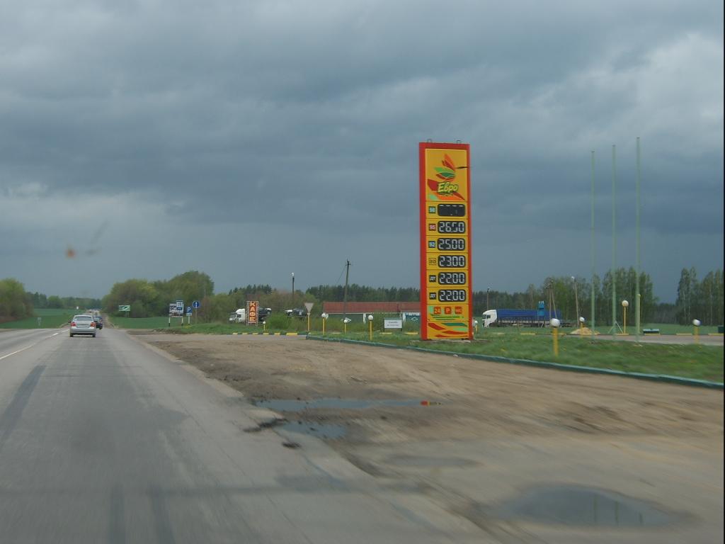 Обзоз автозаправок трасса Москва - Троебортное