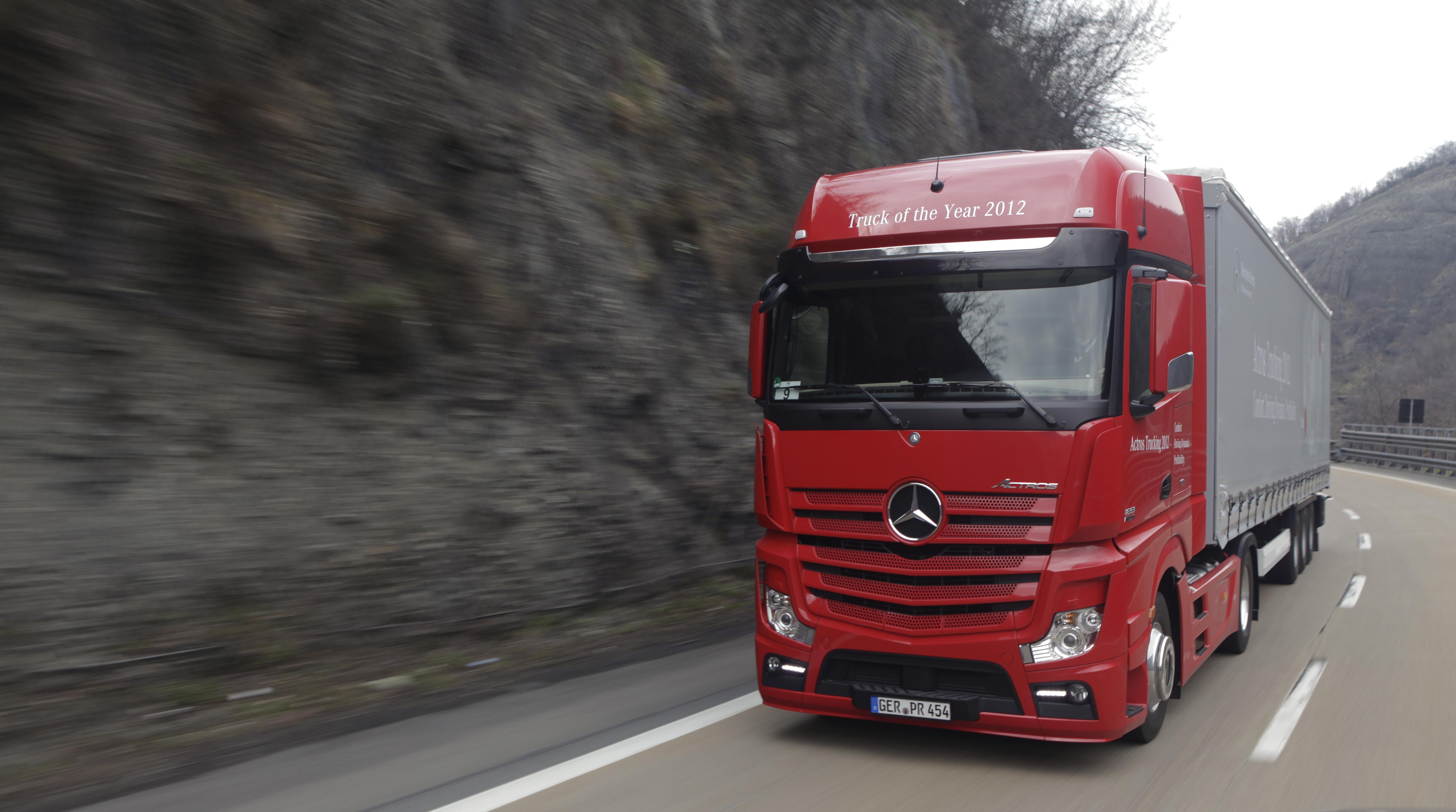 Новый тест грузовика Actros