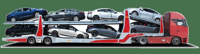 Грузовые перевозки автомобилей автовозами в Красноярске