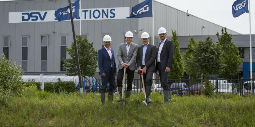 DSV начинает строить 83 000 кв.м складских помещений в Венло, Нидерланды.