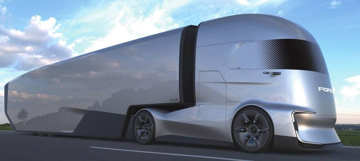 Взгляд в будущее от грузовика Ford