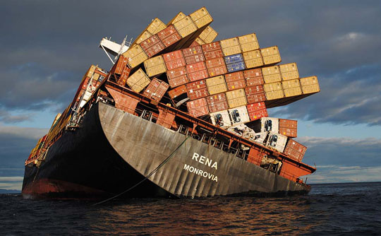 Крушение грузового судна у берегов Турции