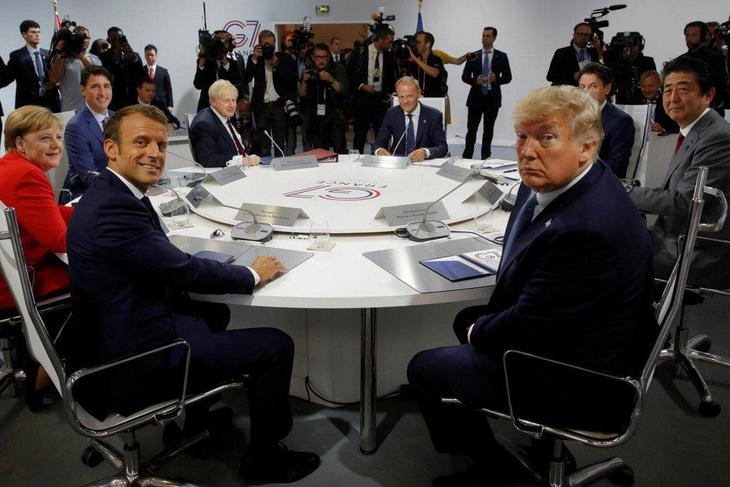 Трамп рисует картину единства на колючем саммите G7