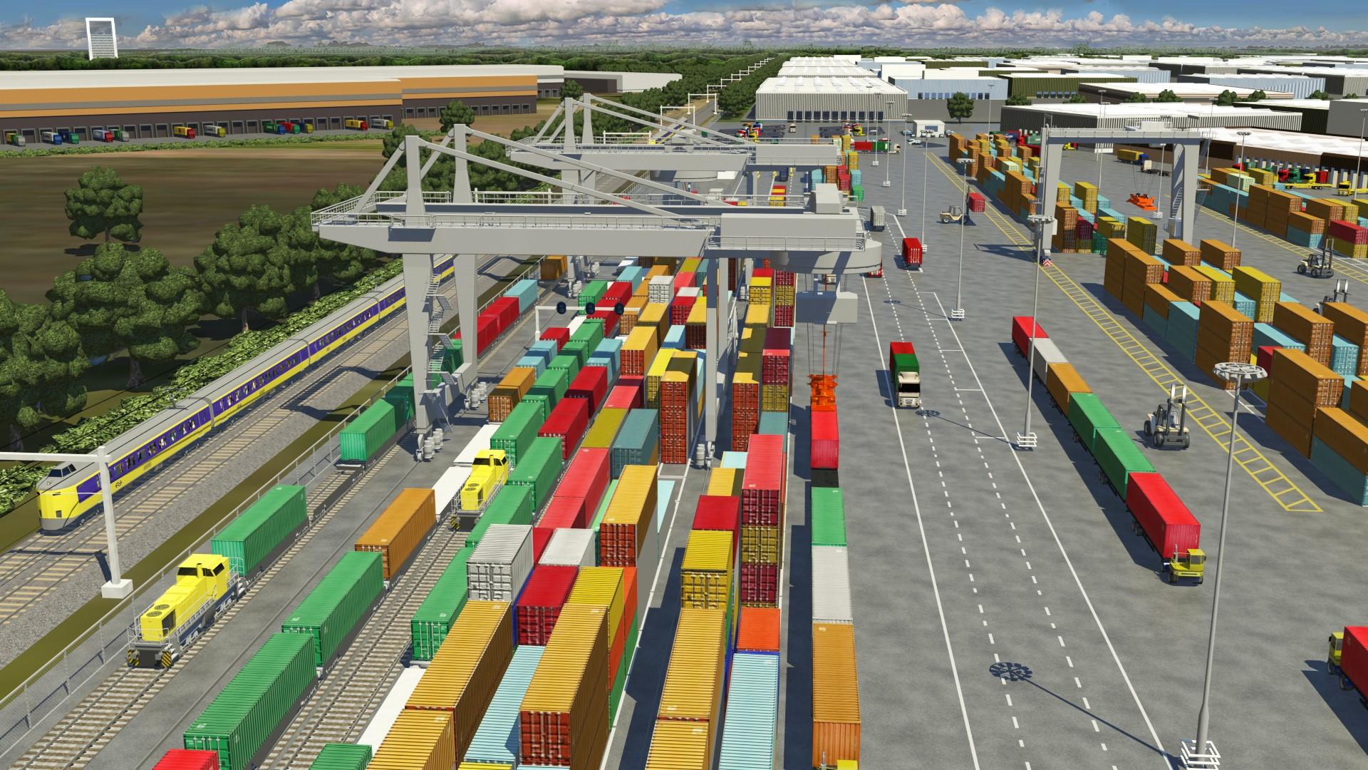 Германия: интермодальный терминал MegaHub Lehrte