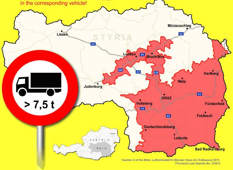 Австрия - ночной запрет на движение по магистрали A12