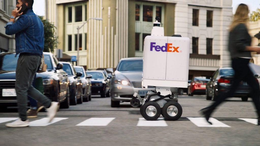FedEx тестирует робота для поставок last-mile