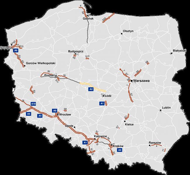 Электронная система дорожных сборов в Польше